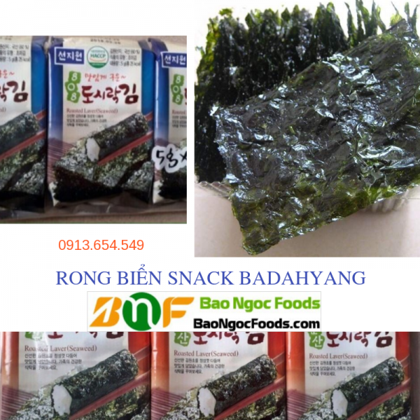 snack rong biển, rong biển ăn liền, rong biển Hàn Quốc