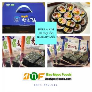 Lá kim Hàn Quốc, lá rong biển, lá kim, cuộn cơm, snack, cuộn sushi