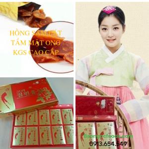 sâm tẩm mật ong, hồng sâm tẩm mật ong, hồng sâm Hàn Quốc, thực phẩm dinh dưỡng, thực phẩm chức năng